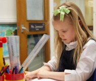 Normanby Primary -  Girls concentrating on her work