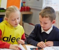 Normanby Primary -  Pupils planning their work